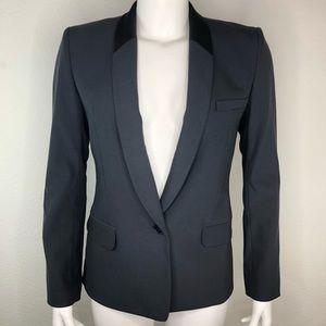 Helmet Lang Wool Blend Blazer Jacket Career Black